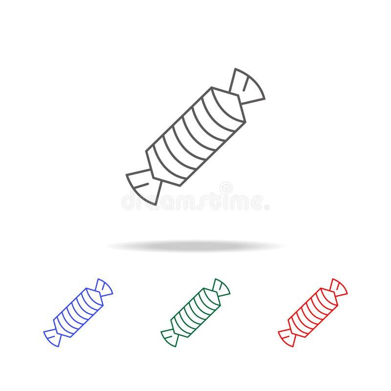 Godislinje symbol Beståndsdelar i mång- kulöra symboler för mobila begrepps- och rengöringsdukapps Symboler för websitedesignen o stock illustrationer