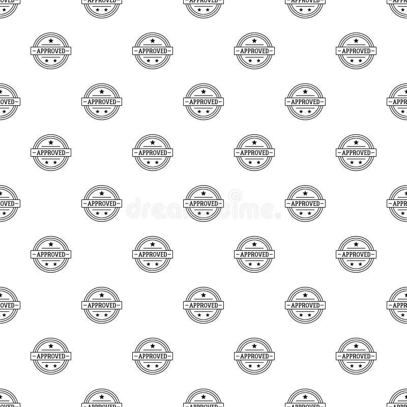 Godkänd lgo, enkel stil royaltyfri illustrationer