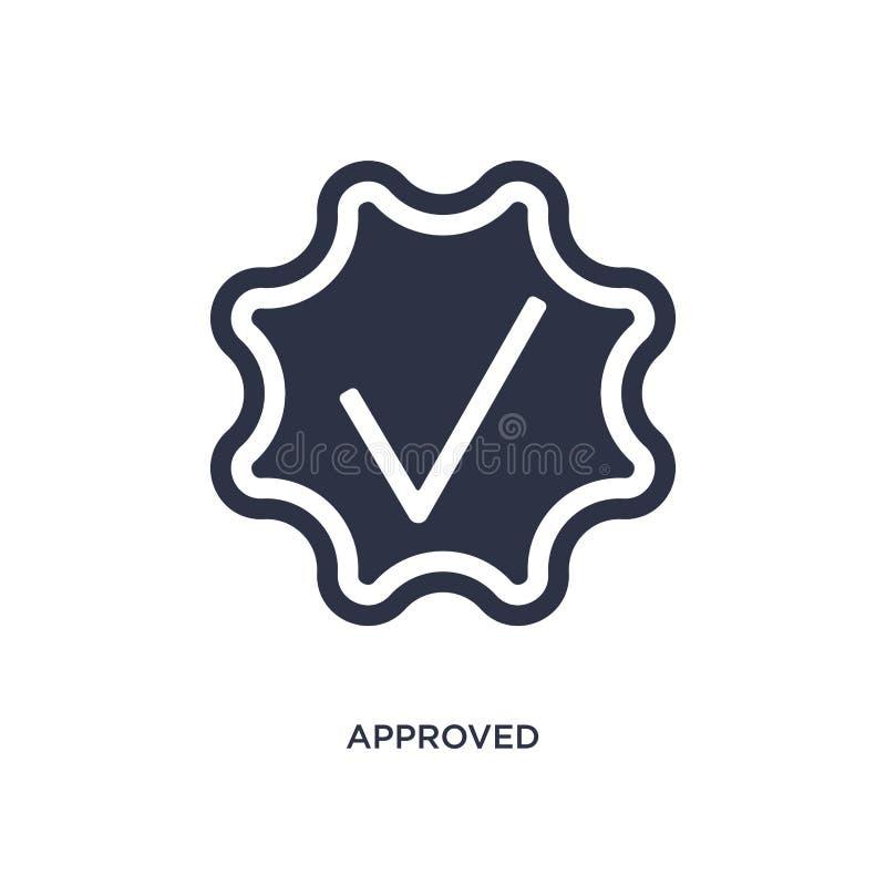 godkänd symbol på vit bakgrund Enkel beståndsdelillustration från personalresursbegrepp royaltyfri illustrationer