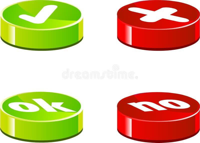 Godkännandesymboler vektor illustrationer