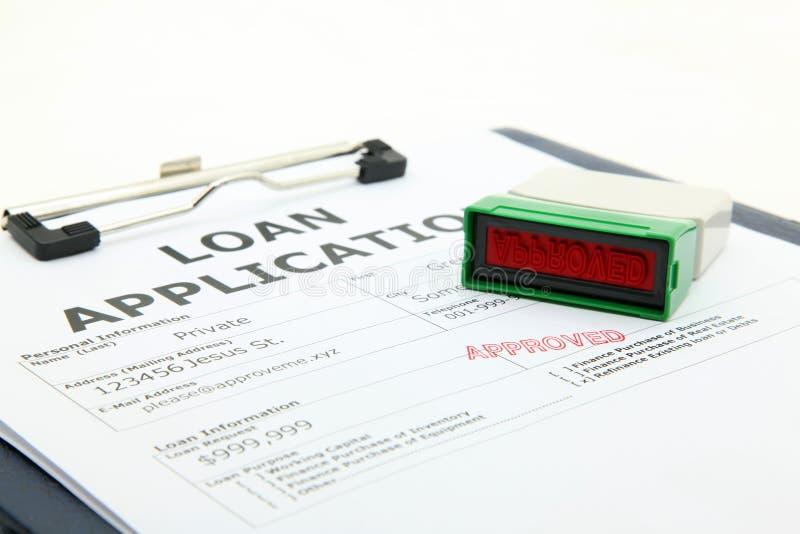 godkänt lån arkivfoton