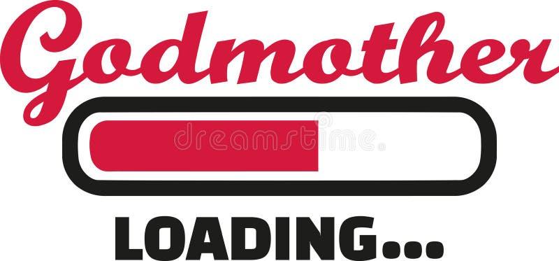 Godmother loading bar. Family vector stock illustration