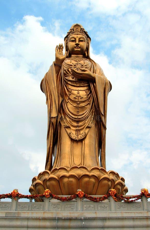 godness观音工业区雕象在Putuoshan海岛 图库摄影