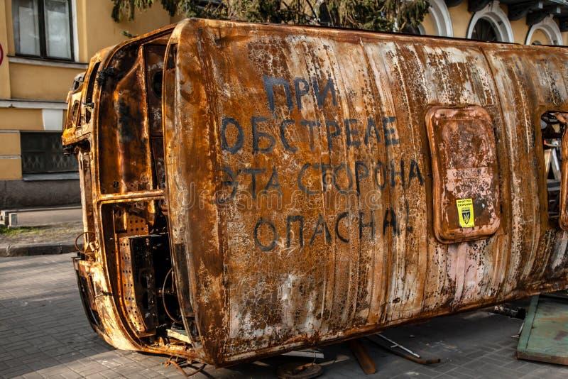 Godności rewolucja - Euromaidan Kijów, Ukraina obrazy stock