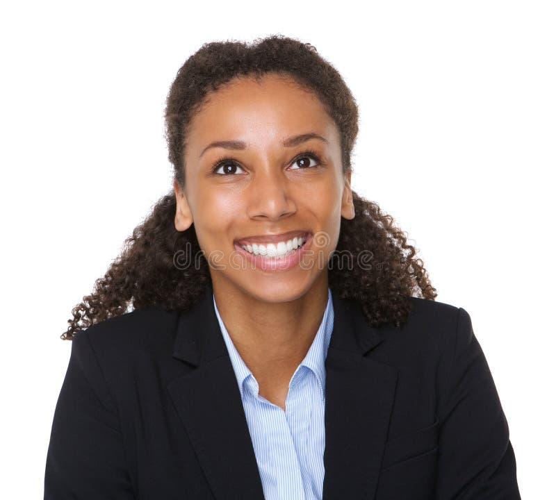 Godny zaufania biznesowej kobiety ono uśmiecha się obraz stock