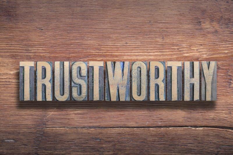 Godny zaufania słowo drewniany fotografia royalty free