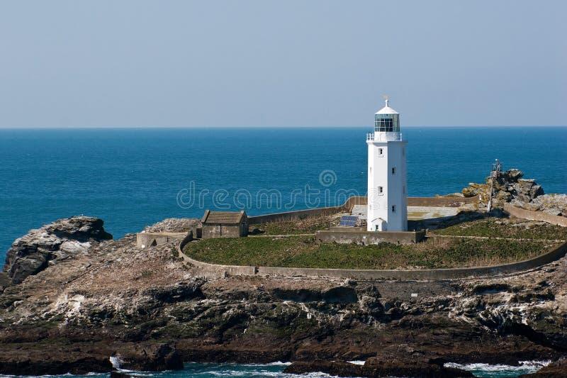 Godrevy Lighthouse Cornwall royalty free stock photo