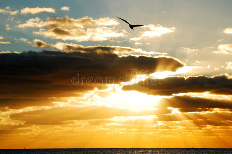 Gods Light, Gods Flight stock photo