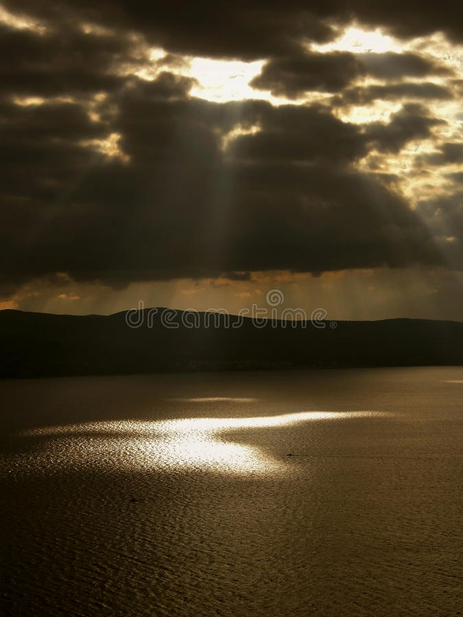 Free Gods Rays And Boats On The Sea Stock Photography - 19857602