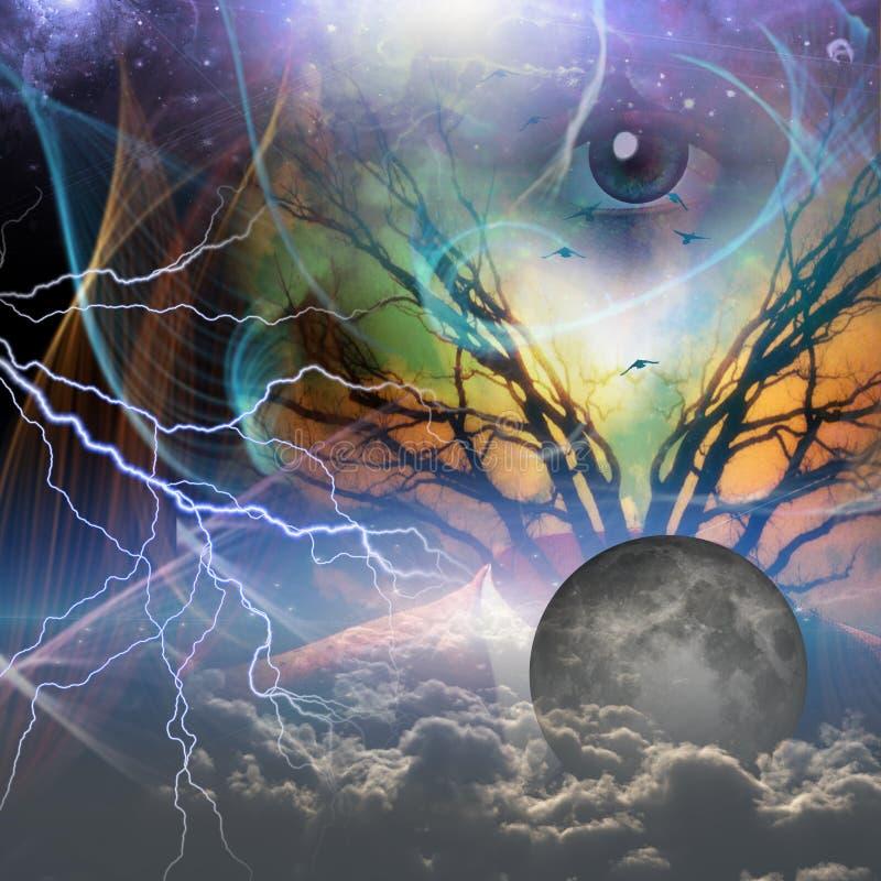 Gods` s oog royalty-vrije illustratie
