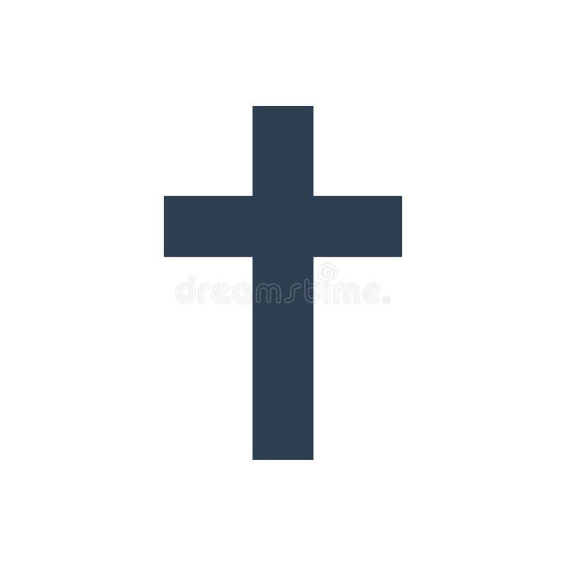 Godsdienst dwarspictogram op witte achtergrond stock illustratie