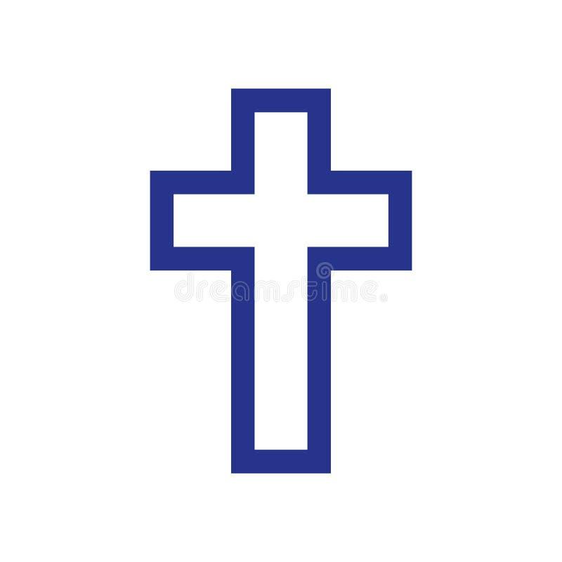 Godsdienst dwarspictogram op witte achtergrond royalty-vrije illustratie