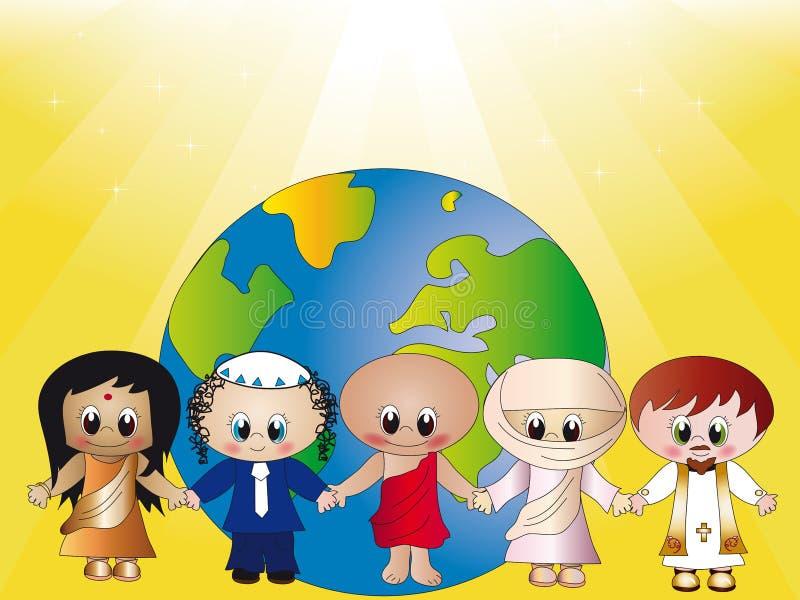 Godsdiensten stock illustratie