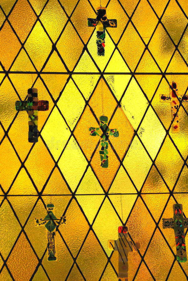 Godsdienstig gebrandschilderd glas. royalty-vrije stock afbeeldingen