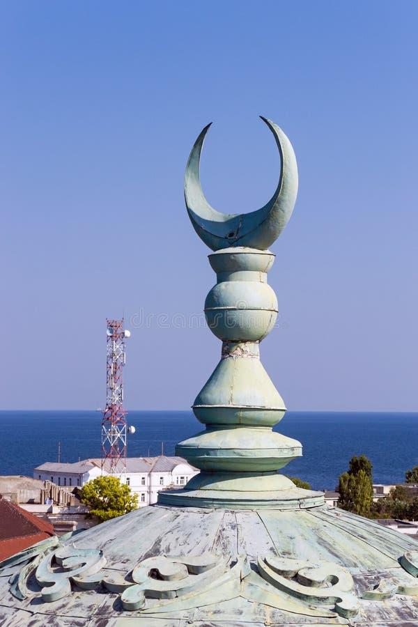 Godsdienstig Islamitisch Crescent Moon Sign royalty-vrije stock fotografie