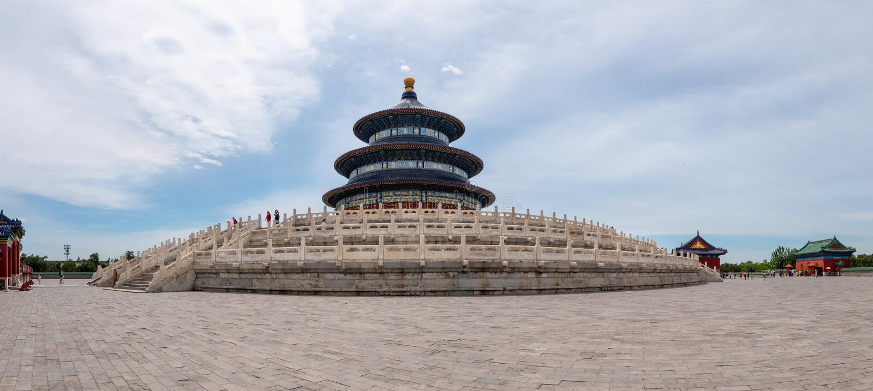 Godsdienstig oriëntatiepunt van de Tempel van Hemel in Peking, Azië stock afbeelding