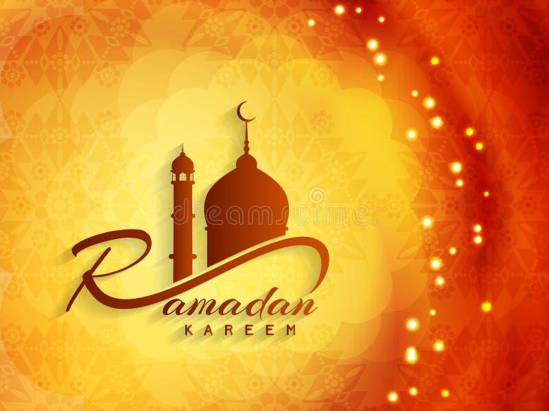 Godsdienstig ramadan kareemontwerp als achtergrond stock illustratie