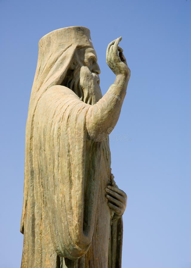 Godsdienstig standbeeld in Chania royalty-vrije stock afbeelding