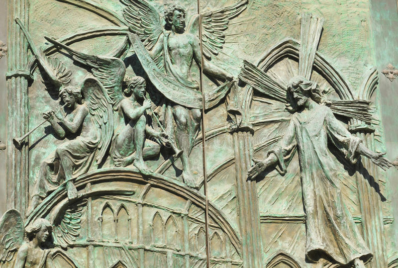 Godsdienstige architectuur in Madrid, Spanje stock foto's