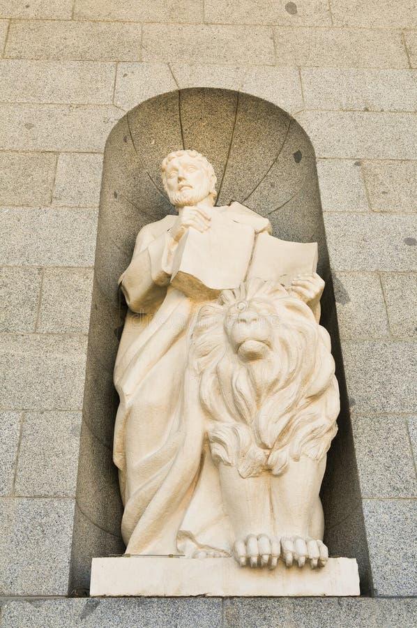 Godsdienstige architectuur in Madrid, Spanje stock afbeelding