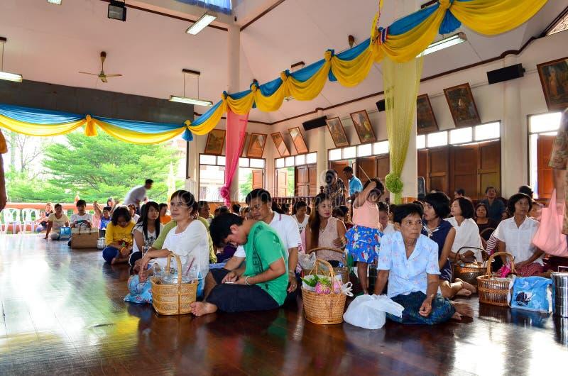 Godsdienstige ceremonie in Thailand stock foto