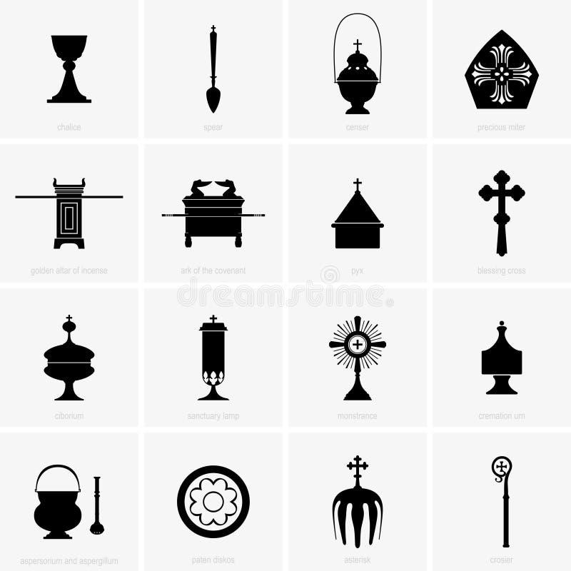 Godsdienstige en Massapunten vector illustratie