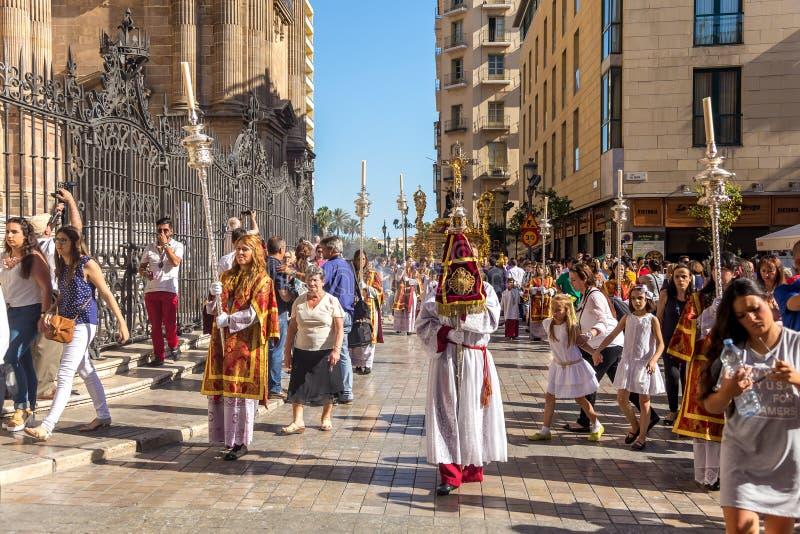 Godsdienstige gebeurtenis in laga MÃ ¡ stock foto