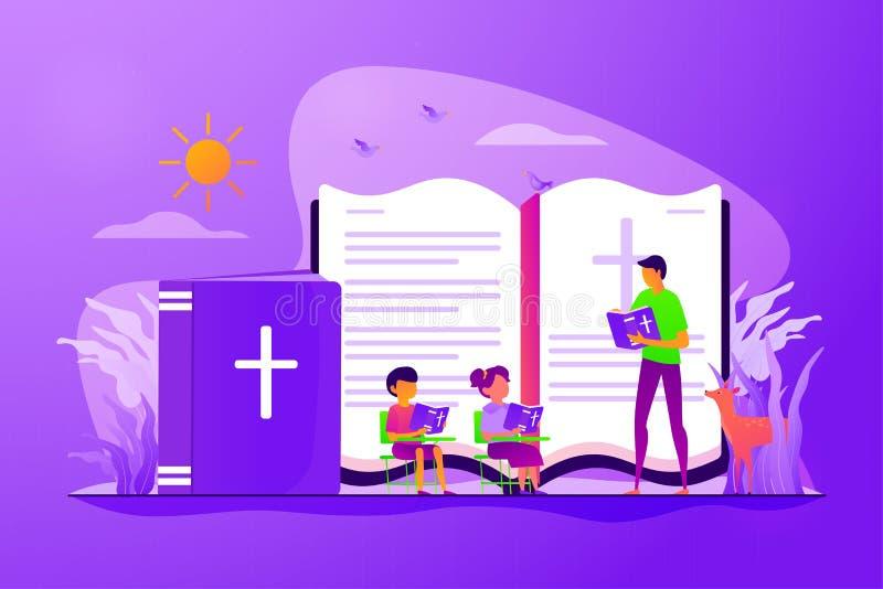 Godsdienstige het concepten vectorillustratie van het de zomerkamp stock illustratie