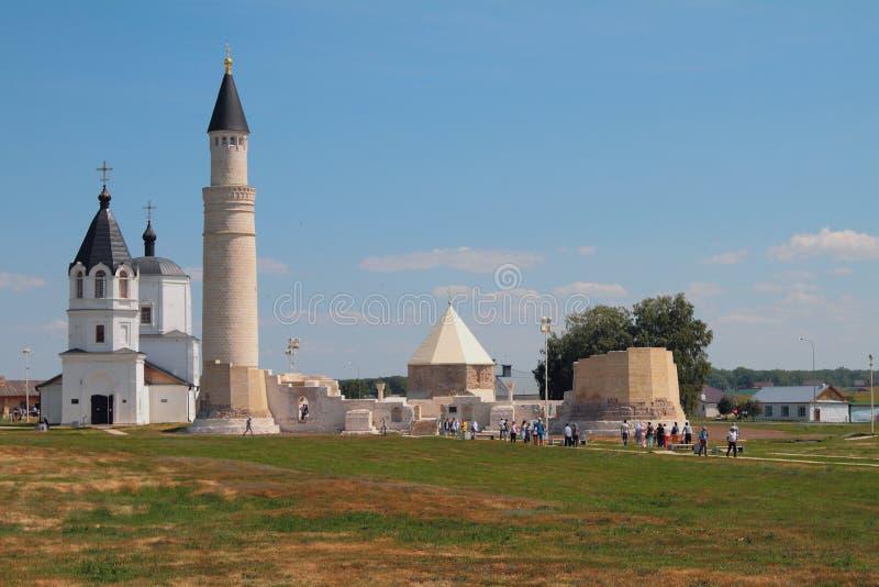 Godsdienstige monumenten van verschillende eeuwen Bulgaars, Rusland royalty-vrije stock fotografie