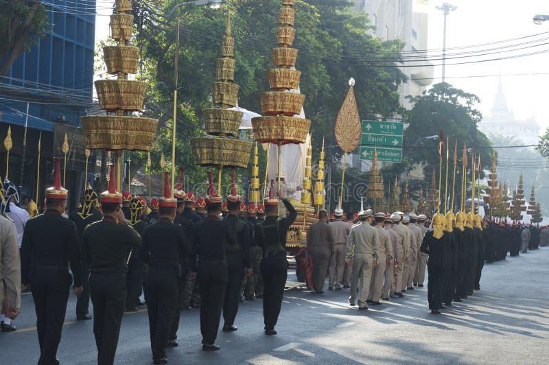 Godsdienstige optocht in Thailand stock afbeelding