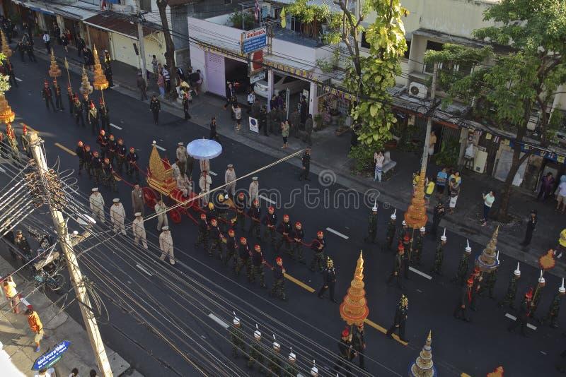 Godsdienstige optocht in Thailand stock afbeeldingen