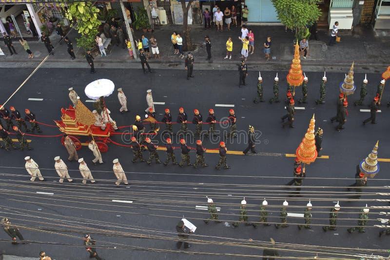 Godsdienstige optocht in Thailand royalty-vrije stock foto