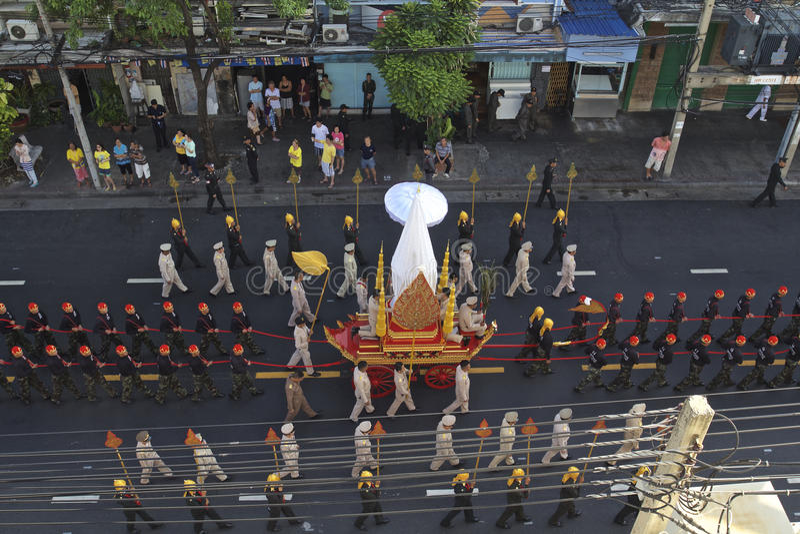 Godsdienstige optocht in Thailand stock foto's