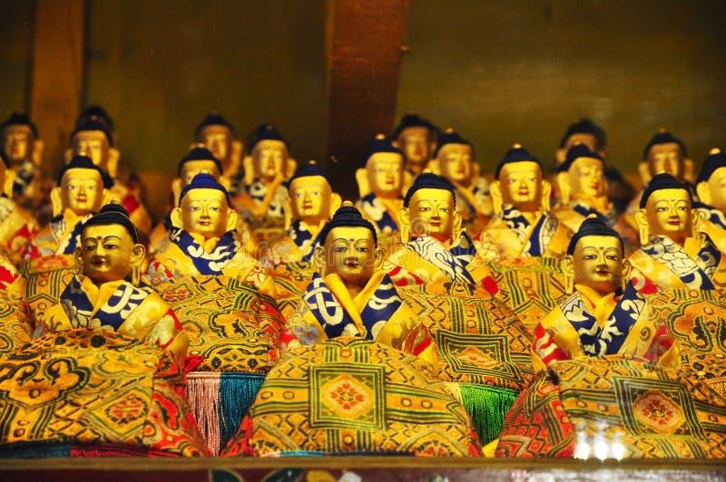 Godsdienstige Standbeelden in Drepung-Klooster stock fotografie