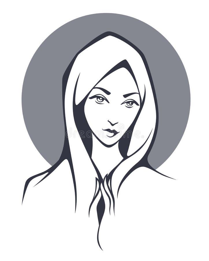 Download Godsdienstillustratie vector illustratie. Illustratie bestaande uit portret - 54075876