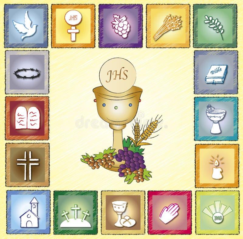 Godsdienstkaart royalty-vrije illustratie