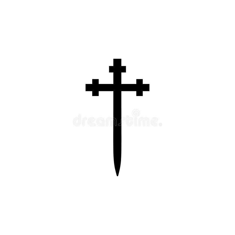 Godsdienstsymbool, Aaronic-het pictogram van de ordekerk Element van de illustratie van het godsdienstsymbool Tekens en symbolen  royalty-vrije illustratie