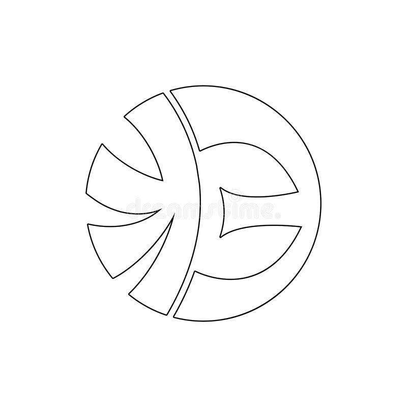 Godsdienstsymbool, eckankar overzichtspictogram Element van de illustratie van het godsdienstsymbool Tekens en symbolen het picto vector illustratie