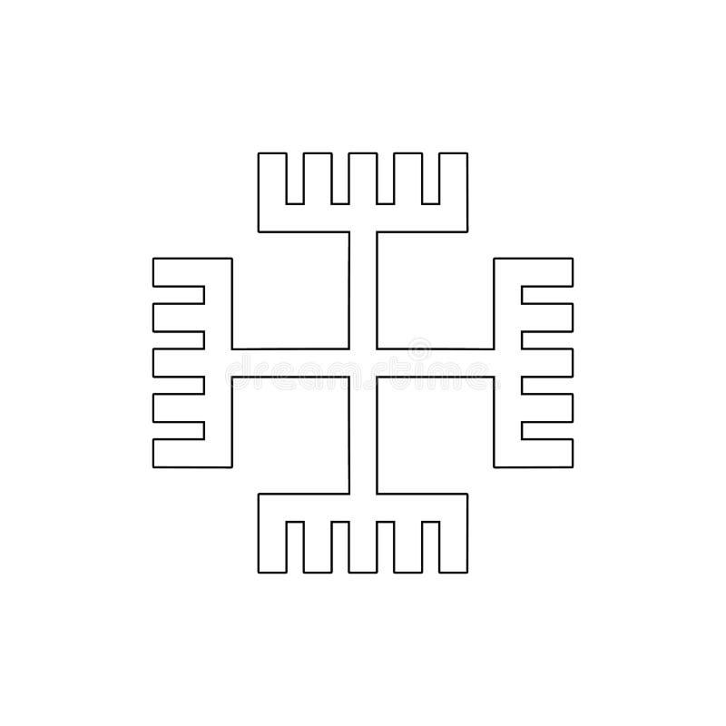 Godsdienstsymbool, Gnosticism-overzichtspictogram Element van de illustratie van het godsdienstsymbool Tekens en symbolen het pic vector illustratie