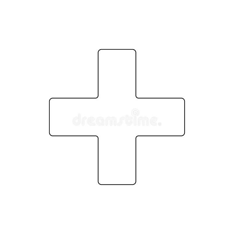 Godsdienstsymbool, Grieks dwarsoverzichtspictogram Element van de illustratie van het godsdienstsymbool Tekens en symbolen het pi stock illustratie