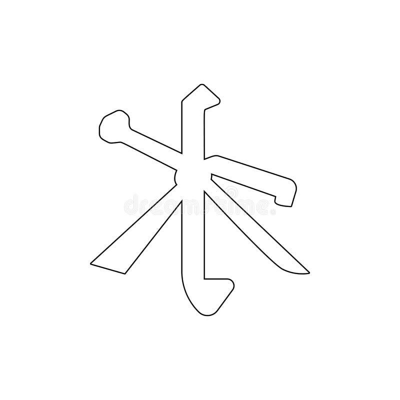 Godsdienstsymbool, het pictogram van het Confucianismeoverzicht Element van de illustratie van het godsdienstsymbool Tekens en sy vector illustratie