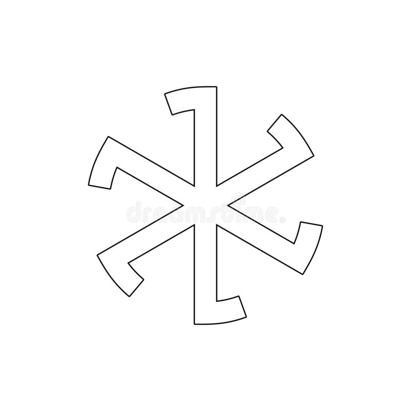 Godsdienstsymbool, het pictogram van het heidendomoverzicht Element van de illustratie van het godsdienstsymbool Tekens en symbol royalty-vrije illustratie