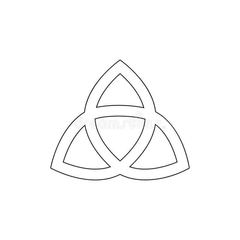 Godsdienstsymbool, het pictogram van het heidendomoverzicht Element van de illustratie van het godsdienstsymbool Tekens en symbol vector illustratie