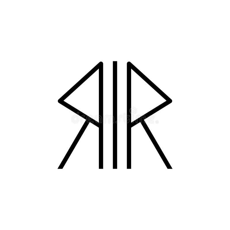 Godsdienstsymbool, Noords heidendompictogram Element van de illustratie van het godsdienstsymbool Tekens en symbolen het pictogra stock illustratie