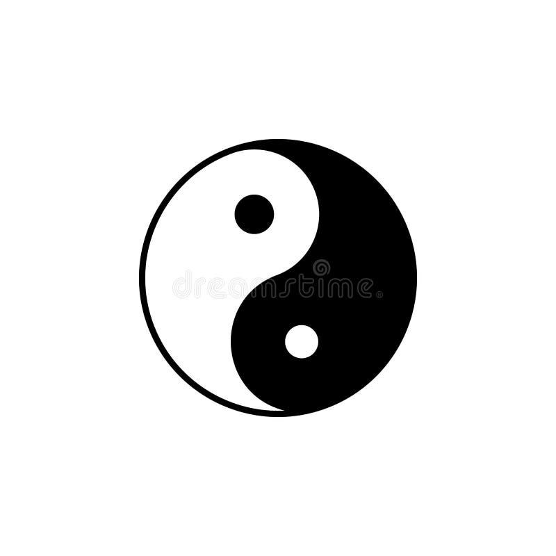 Godsdienstsymbool, yin yang pictogram Element van de illustratie van het godsdienstsymbool Tekens en symbolen het pictogram kan v vector illustratie