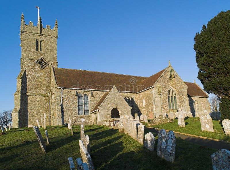 godshill церков стоковое изображение