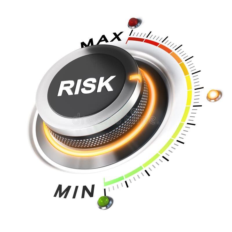 Godtagbar nivå av risken vektor illustrationer