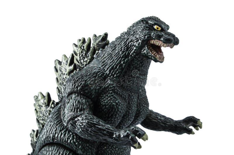Godzilla modell royaltyfri foto