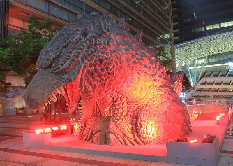 Godzilla Roppongi Tokyo. Famous Godzilla statue in Roppongi Tokyo Japan stock images