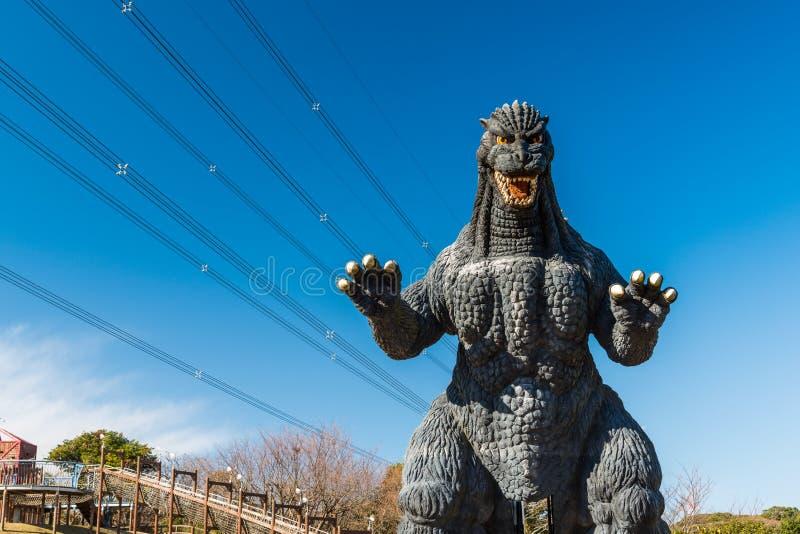 Godzilla statue in Kurihama. YOKOSUKA, Japan - FEB 7, 2016: Godzilla statue in Kurihama royalty free stock photography